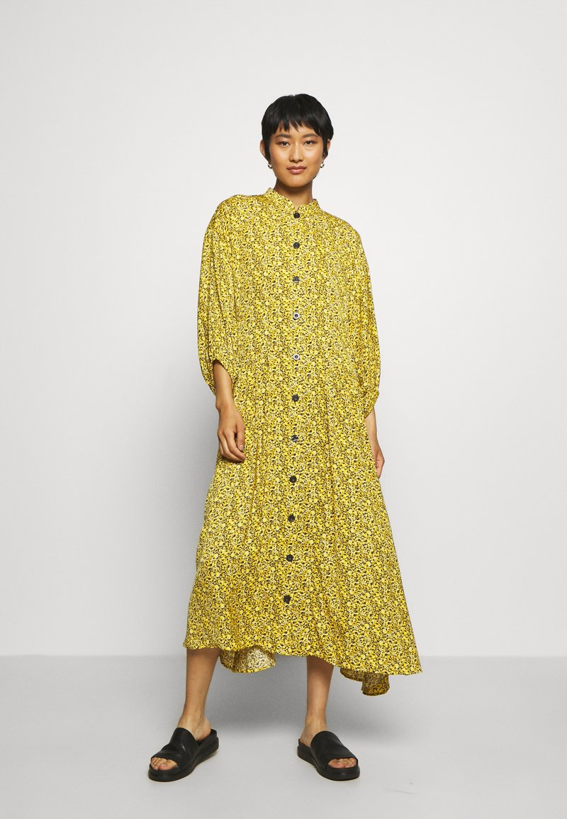 Gestuz - THALLOGZ LONG DRESS  - Shirt dress - yellow