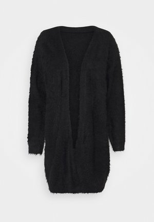 VMPOILU LONG OPEN CARDIGAN - Cardigan - black