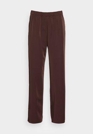 HOYS STRAIGHT PANTS - Trousers - chocolate plum