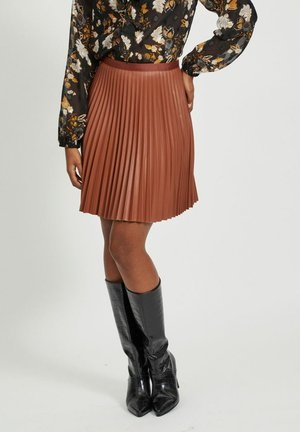 VIAMINNA - A-line skirt - tobacco brown
