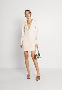 Missguided - CORSET DETAIL BLAZER DRESS - Shift dress - stone - 1