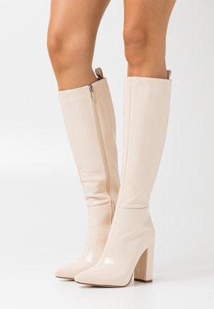 Laarzen met hoge hak - offwhite