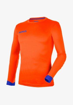 Long sleeved top - shocking orange/blue
