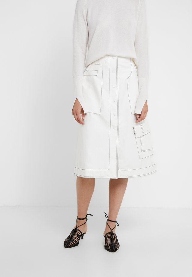 HIGH WAISTED SKIRT - Gonna a campana - off-whit