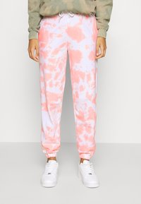 New Look - TIE DYE JOGGERS - Tracksuit bottoms - mid pink - 0