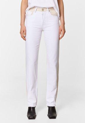 TWO-TONE - Jeans Straight Leg - white
