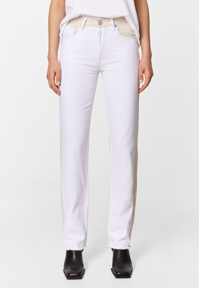 TWO-TONE - Straight leg jeans - white