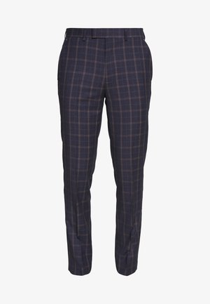 CORTES CHECK - Suit trousers - navy