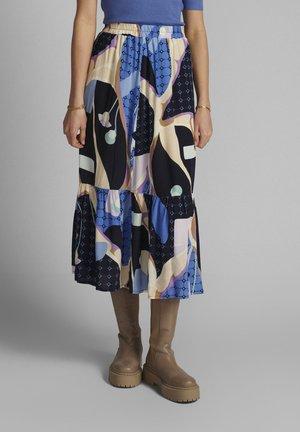 NUCASEY - A-line skirt - dark sapphire
