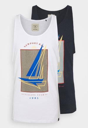 GRAPHIC VEST 2 PACK - Top - white/navy