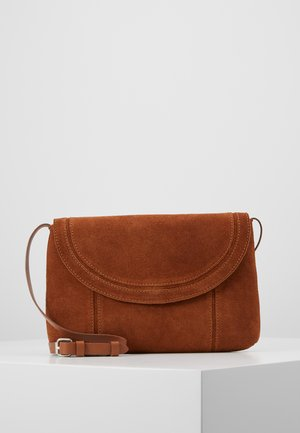 LEATHER - Torba na ramię - cognac