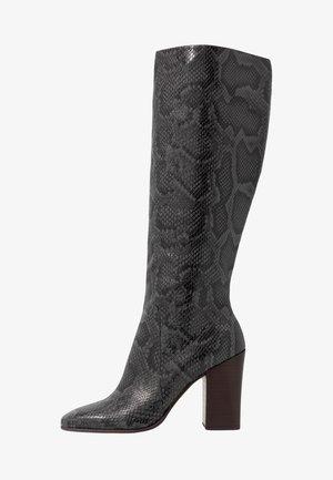 KASIDY - Boots med høye hæler - mirage blue