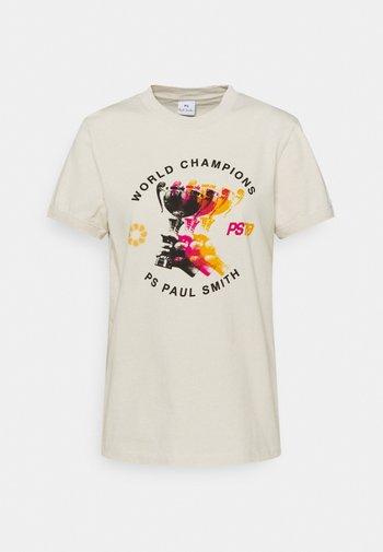 WOMENS - Print T-shirt - beige
