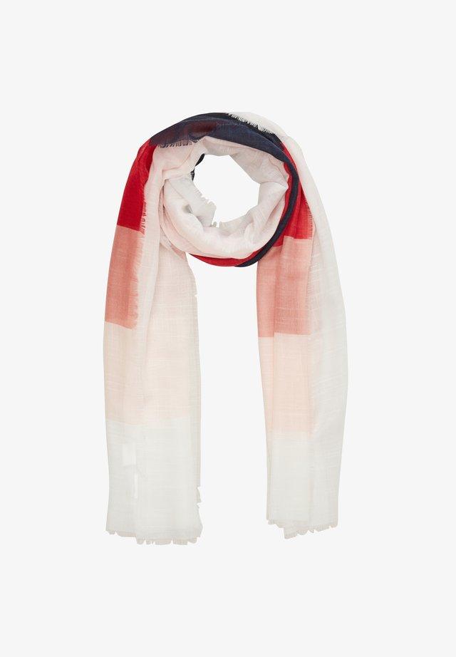 MIT COLOUR BLOCKING-EFFEKT - Sjaal - red stripes
