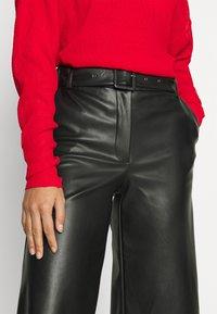 VILA PETITE - VIDOLORES CROPPED WIDE PANTS - Pantalones - black - 4