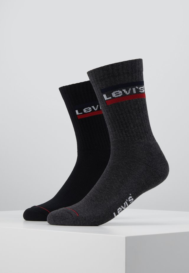 REGULAR CUT LOGO 2 PACK - Socks - mid grey/black