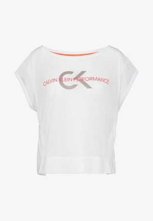 CROPPED SHORT SLEEVE - Print T-shirt - white