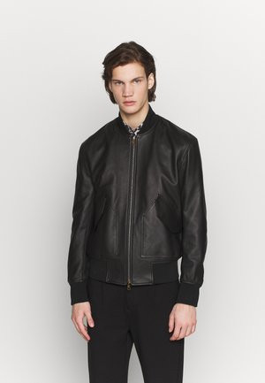 GENTS JACKET - Leather jacket - black