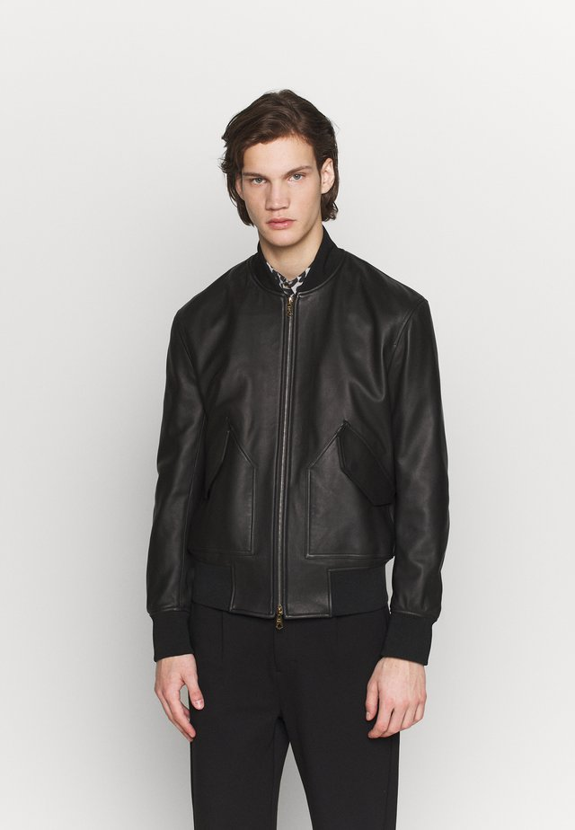 GENTS JACKET - Leather jacket - black