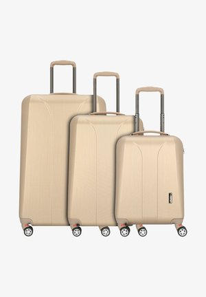 NEW CARAT  - Luggage set - gold brushed