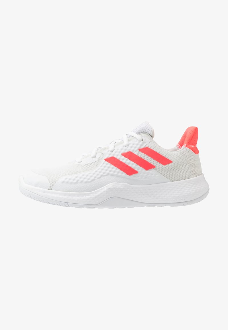 adidas Performance - FITBOUNCE - Sneakers basse - footwear white/signal pink/core black