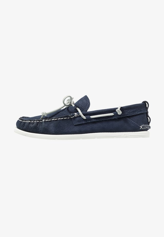 BEACH MOC SLIP ON - Boat shoes - navy