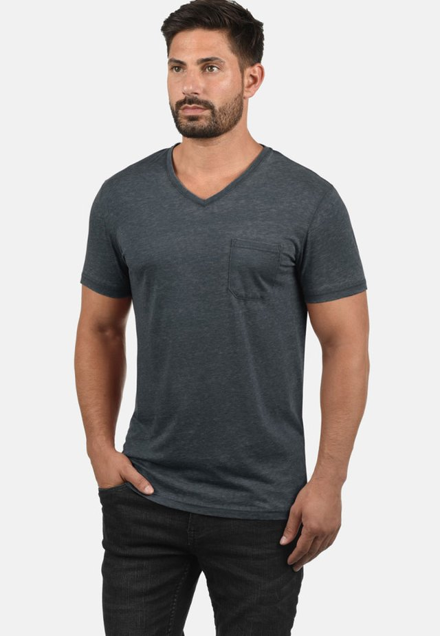 V-SHIRT THEON - Basic T-shirt - grey