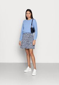 Lindex - SKIRT HILDA - Mini skirt - light dusty blue - 1