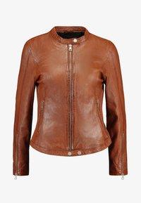 Freaky Nation - TULA - Leather jacket - cognac - 4