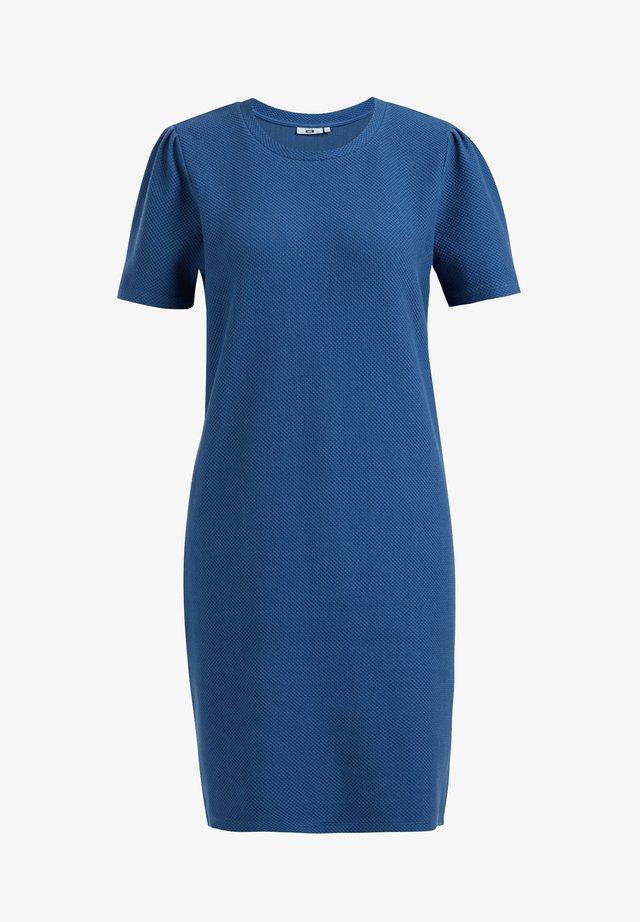 MET STRUCTUUR - Gebreide jurk - blue