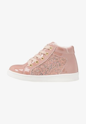 High-top trainers - old pink
