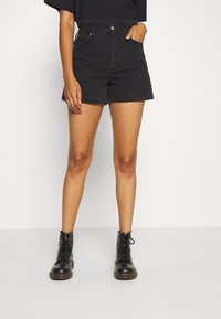 Weekday - CALVALRY - Shorts di jeans - tuned black - 0
