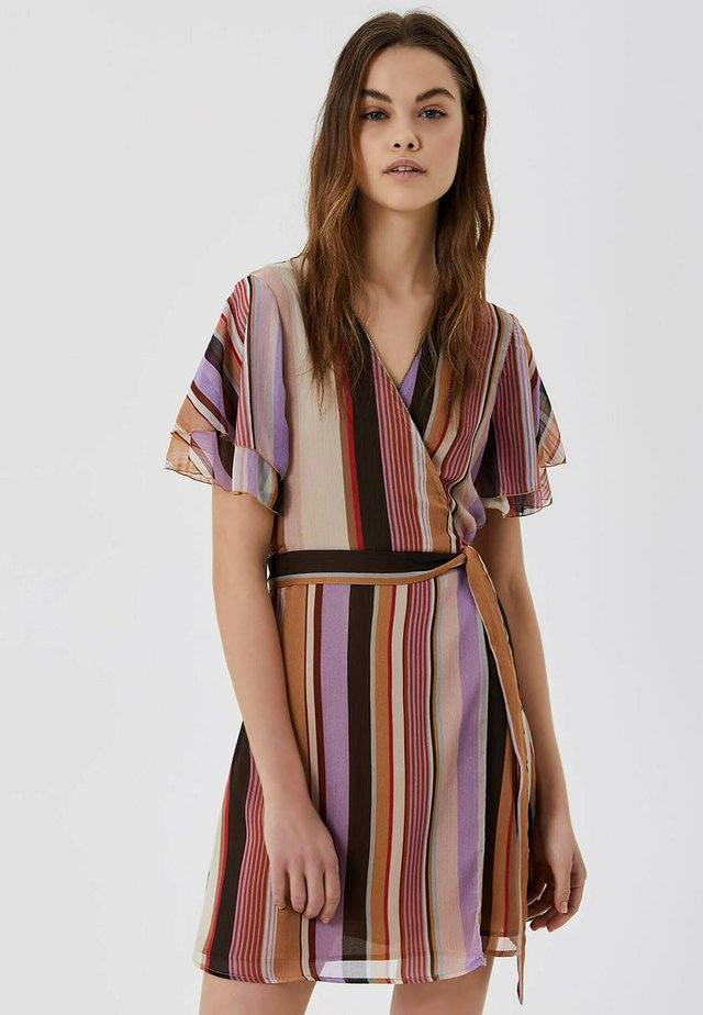 WITH BOW - Korte jurk - multicolor