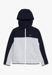 Lacoste - veste en sweat zippée - navy blue/silver chine - 0