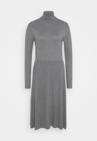 FLARE DRESS - Jumper dress - mid grey heather
