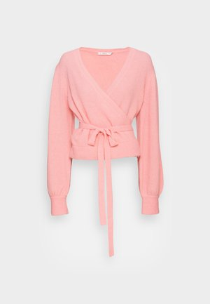 ALPHA WRAP CARDIGAN - Cardigan - powdered pink