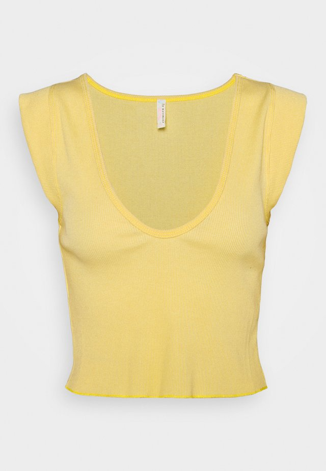 PERFECT DAY TANK - T-shirt med print - light yellow
