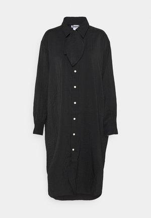 FREE SCARF - Shirt dress - black