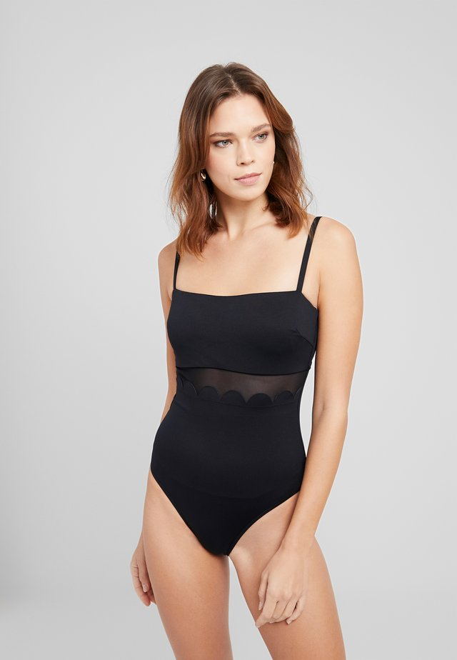 PETAL EDGE MAILLOT - Swimsuit - black