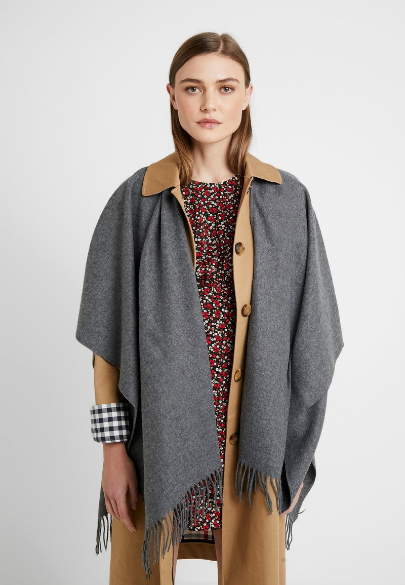 Fraas - Poncho - mid grey