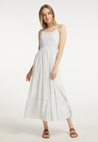 DreiMaster - Maxi dress - weiss grau - 1