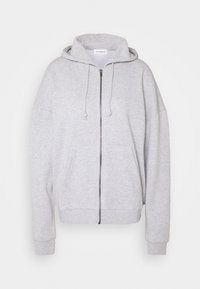 Even&Odd - Oversized Zip Through Hoodie Jacket - Sweatjakke /Træningstrøjer - mottled light grey - 0