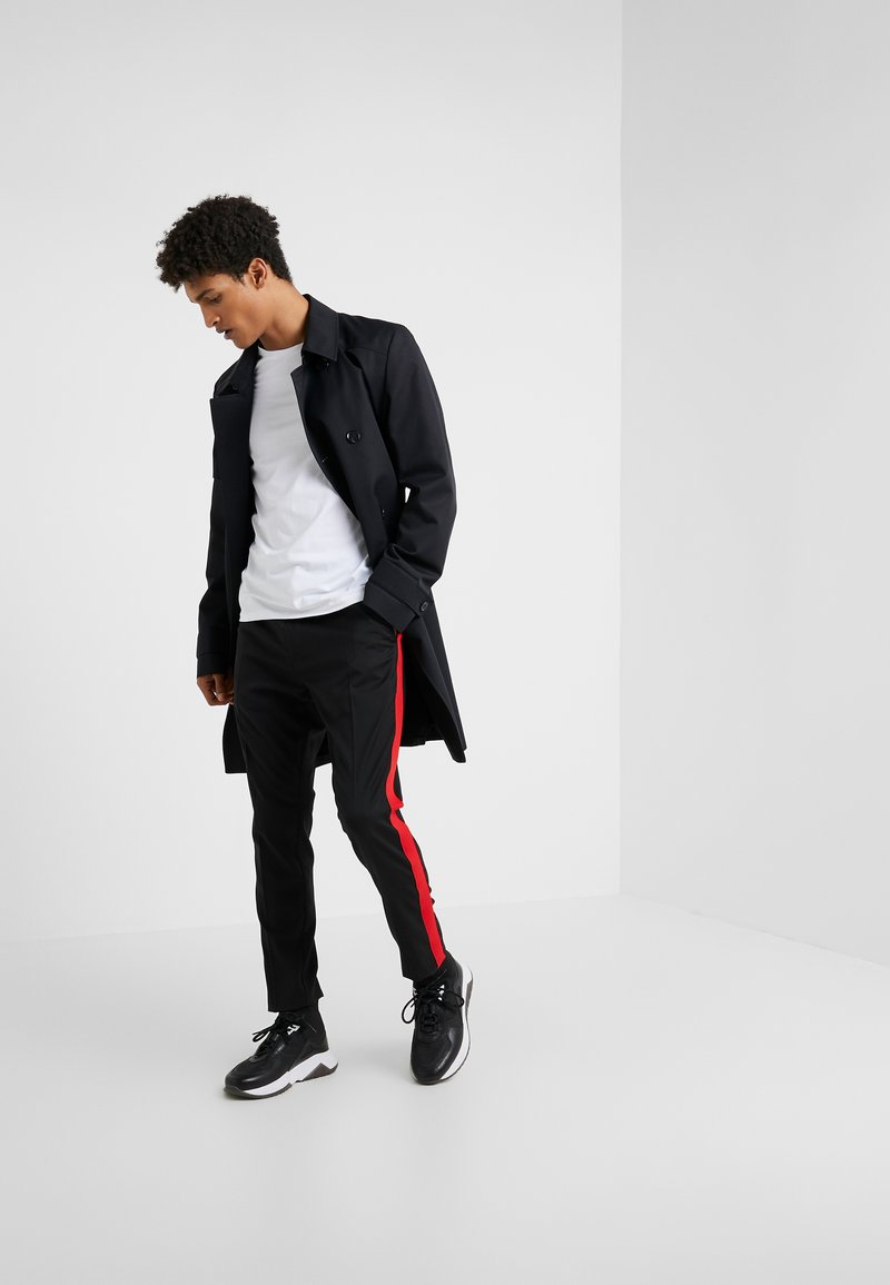 HUGO - ROUND  - T-Shirt basic - black/white