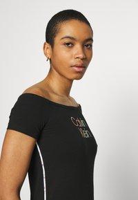 Calvin Klein - PIPING LOGO BARDOT - Print T-shirt - black - 4