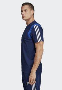 adidas Performance - TIRO 19 AEROREADY CLIMALITE - T-shirt med print - blue - 2