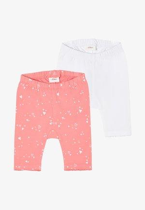 2 PACK - Leggings - Trousers - pink aop/white