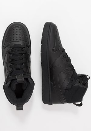 COURT BOROUGH MID  - Korkeavartiset tennarit - black