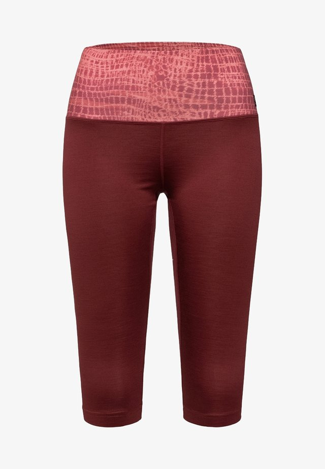 W SUPER - 3/4 sports trousers - red