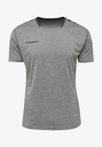 HMLAUTHENTIC - T-shirt med print - grey melange