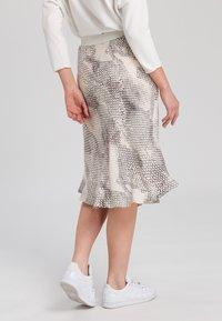 Marc Aurel - A-line skirt - light sand varied - 2
